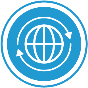 Global button circle